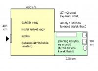 Pesterzsébeten OLCSÓ, lakásnak is jó 27 m2 üzlet eladó!